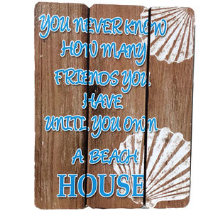 ♛5/$25♛ NWT Until You Own A Beach House Wood Sign